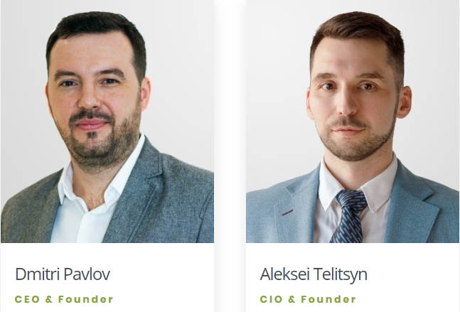 Moncera team. CEO Dmitri Pavlov and CIO Aleksei Telitsyn